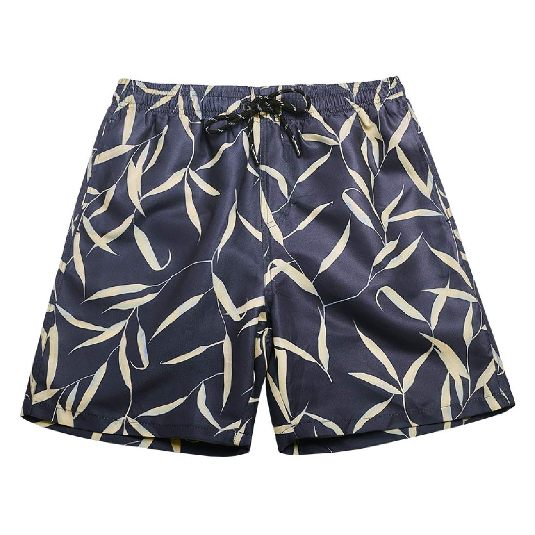 Zimaes-Men Quick Dry Plus Size Floral Printed Shorts Lounge Beach Trousers