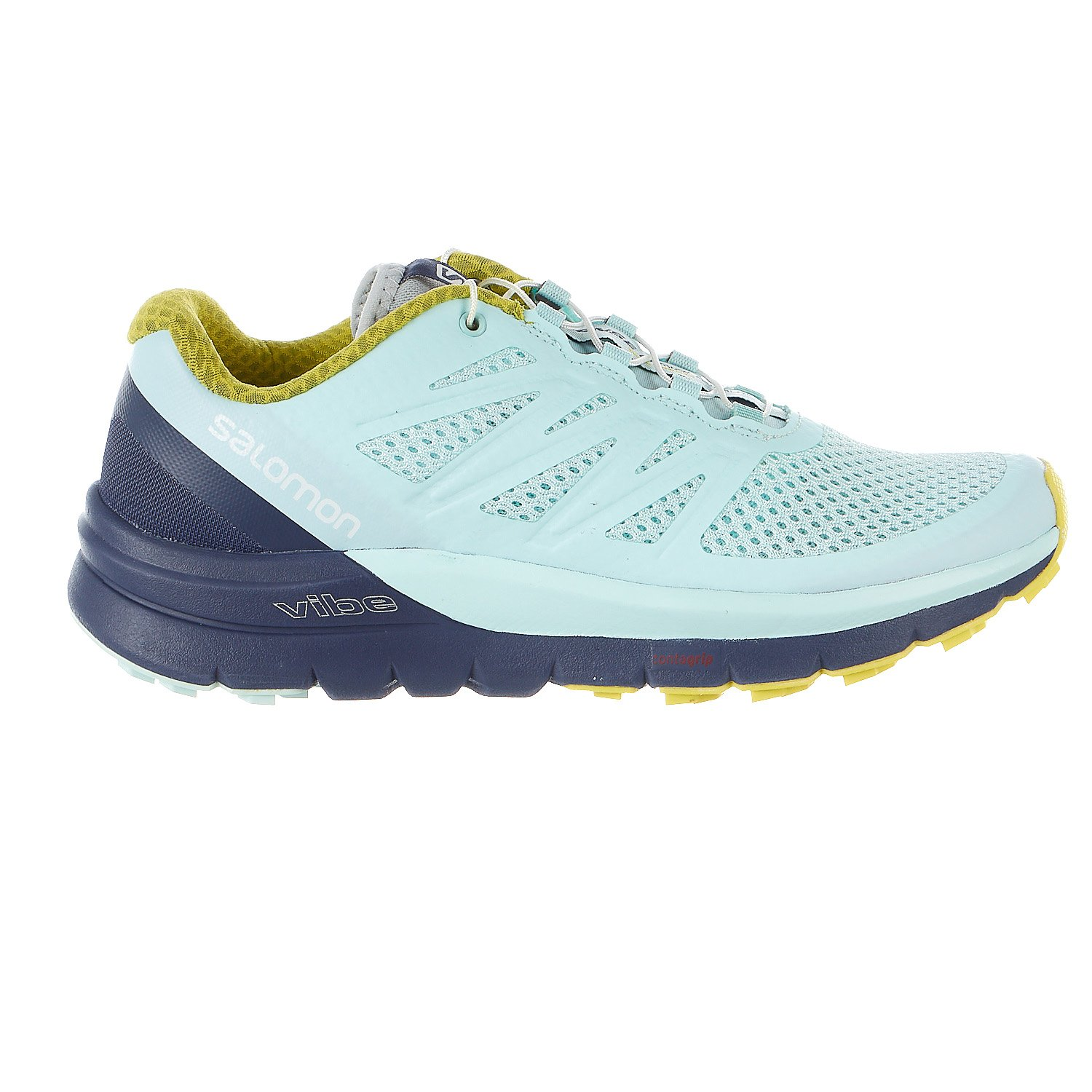 Salomon Women's Sense Pro Max Shoes Fair Aqua / Crown Blue / Sulphur Spring 7