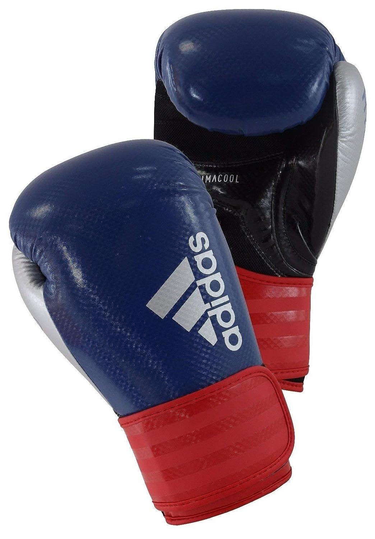 Adidasハイブリッド75ボクシンググローブ B0744P5111 ブルー/レッド 14 oz