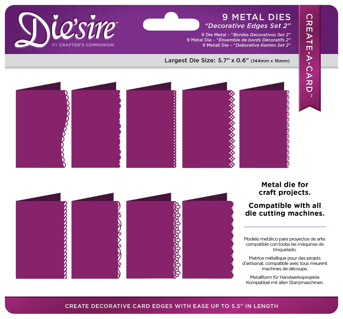 Silver Diesire DS-CADUS-EDGE2 Thin Metal Die