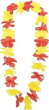 DISOK Lote de 50 Collares Jamaicanos - Collares para Disfraces, Fiestas Españolas. Anima a la Selección Española - Mundial Rusia 2018. Souvenirs España: Amazon.es: Juguetes y juegos