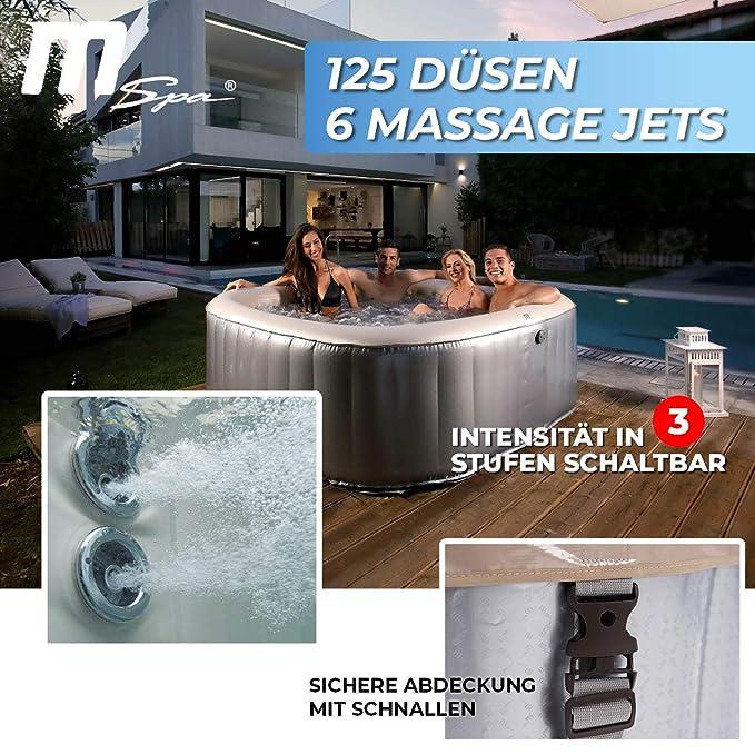 Miweba MSpa - Jacuzzi Hinchable para Exteriores - 125 ...