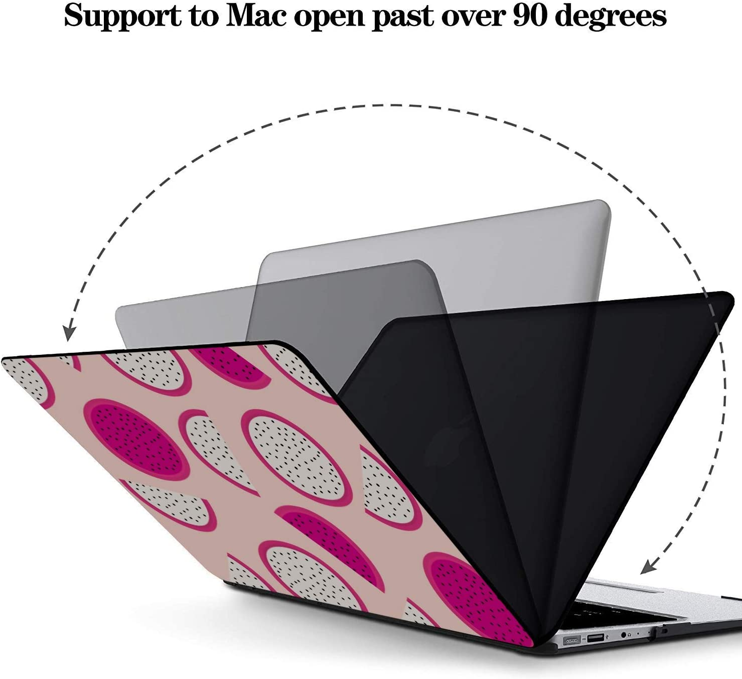 15 Inch MacBook Case Summer Sweet Art Cool Fruit Dragon Plastic Hard Shell Compatible Mac Air 11 Pro 13 15 Laptop Shell Case Protection for MacBook 2016-2019 Version