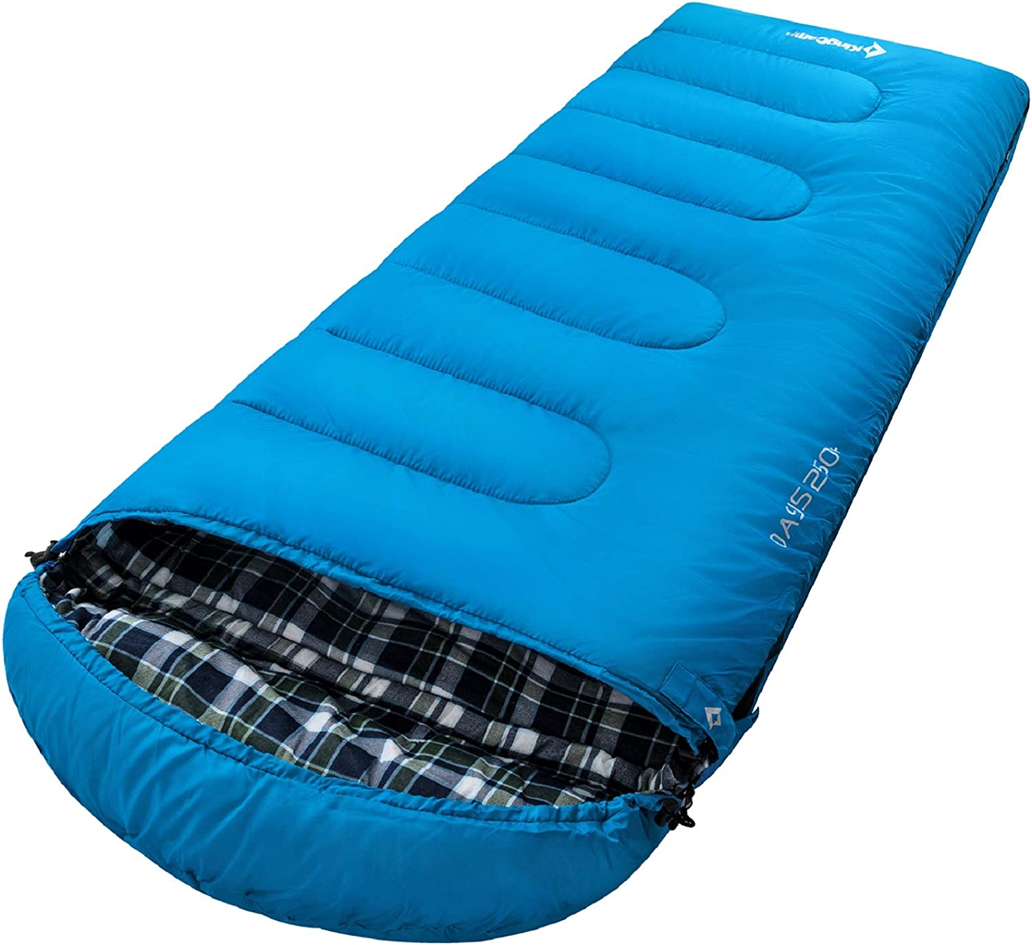 KingCamp Oasis Sleeping Bag 3-4 Season for Adult Extra-Large Envelope Style Easy to Carry Lightweight /& Waterproof /& Warm for Camping /& Outdoors