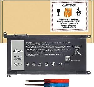 FLYTEN WDX0R Battery for Dell Inspiron 13 5368 5378 5379 7368 7378,Inspiron 14 5468 7460,Inspiron 15 5538 5565 5567 5568 5578 7560 7570 7569 7579,Inspiron 17 5765 5767 5770 7.4v 42wh