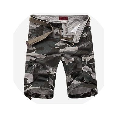 8642aaf10d romantico Shorts Men Casual Summer Multi-Pocket Loose Short Sweatpants Shorts  Baggy Tactical Military Short