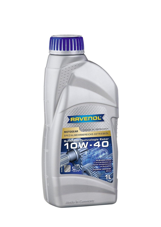 RAVENOL J1V1523-001 SAE 10W-40 Motorcycle Wet Clutch Transmission Fluid Gear Oil (80w)(1 Liter) 1250101-001-01-999