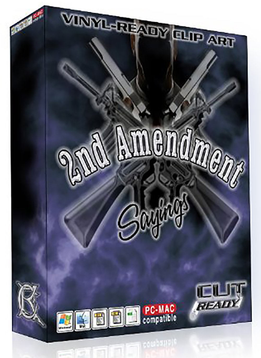 2ND AMENDMENT GUN RIFLE FIREARM SAYINGS Vector Clip Art Vinyl Cutter & Plotters - Great for Silk Screening - T-Shirts - Making Decals & Stickers - Printing - Awesome for License Plates by Cut Ready Clipart
