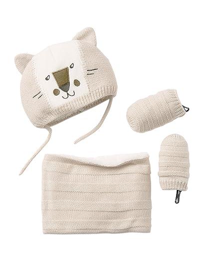 VERTBAUDET Conjunto de gorro + braga de cuello + manoplas para bebé niño de  punto tricot be40a7de57e