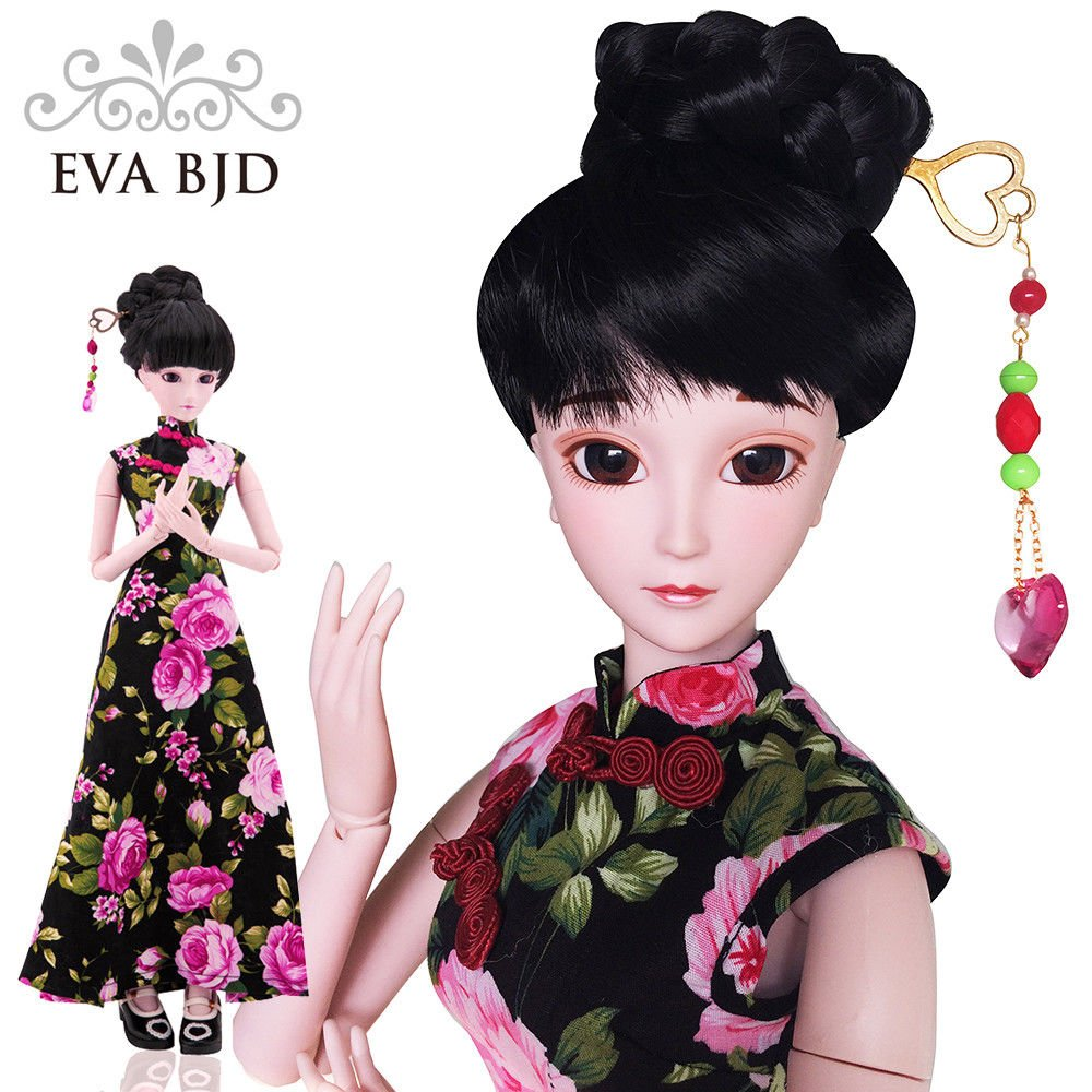 Chinese Cheongsam Donna 1/3 SD Doll 60cm 24'' Ball Jointed BJD Dolls Full Set Reborn Toy SD Surprise Doll by EVA BJD (Image #1)