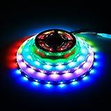 WS2812B 150 Pixel Led Streifen Licht, Traumfarbe 16.4FT / 5m WS2812B 30leds / M 5050 SMD Individuell Adressierbar LED Band Licht, Volle Farbe RGB Streifen Licht DC 5V Nicht Wasserdicht (Weiß PCB)