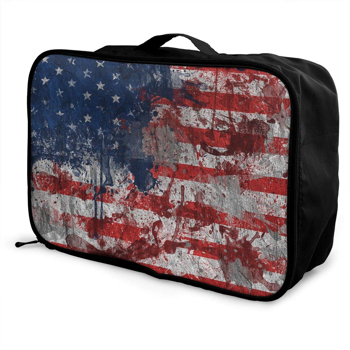Travel Luggage Duffle Bag Lightweight Portable Handbag Flag Of The United States Large Capacity Waterproof Foldable Storage Tote