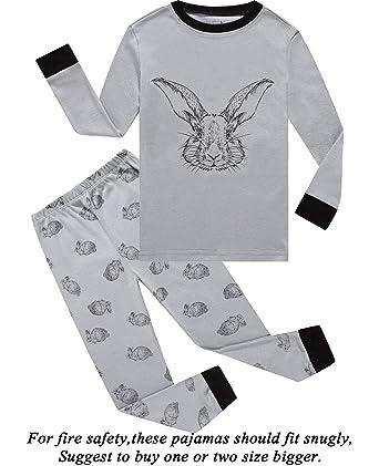 20aa05e35b Boys Pajamas Easter Rabbit Gifts 100% Cotton Toddler Pjs Long Sleeve Kid  Sleepwear Sets Size