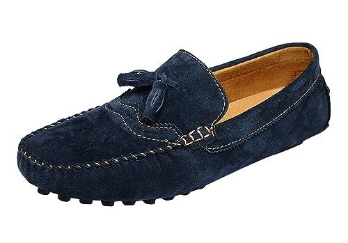 Icegrey Hombre Mocasines Zapatos Mocasín con La Borla Brogue Casual Zapatos Estilo De Conducción: Amazon.es: Zapatos y complementos