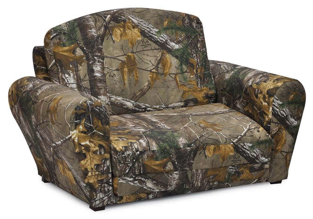 Kidz World Real Tree Camouflage Sleepover Sofa