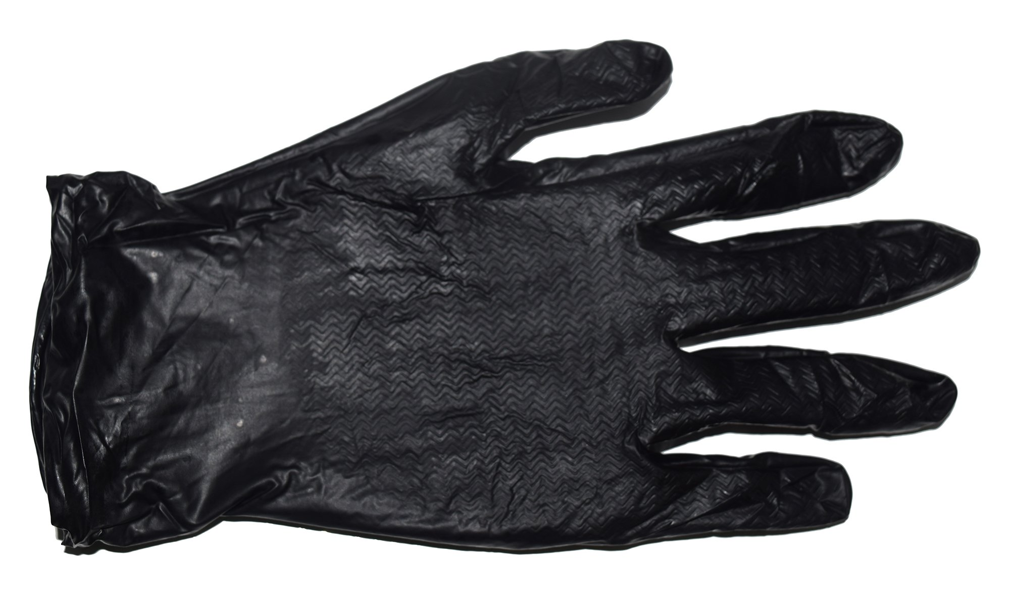 Emerald Z5001 Black MAX-Grip Powder Free Nitrile Glove 6 Mil Disposable with Beaded Cuff 100 Gloves per Box 10 Boxes Total 1000 Gloves Size Extra Large