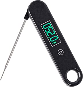 Bayco IPX7 Waterproof Food Meat Thermometer for Cooking, Digital Instant Read Kitchen Food Candy Thermometer, Highly Accurate Cooking Thermometer with Long Folding Probe, Backlight and Magnet