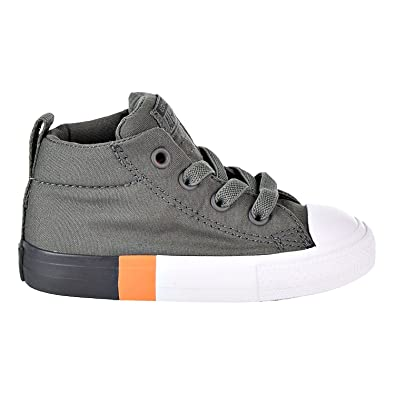 ed7b31db9275 Converse Chuck Taylor All Star Street Mid Toddlers Shoes River Rock Almost  Black 759976f (