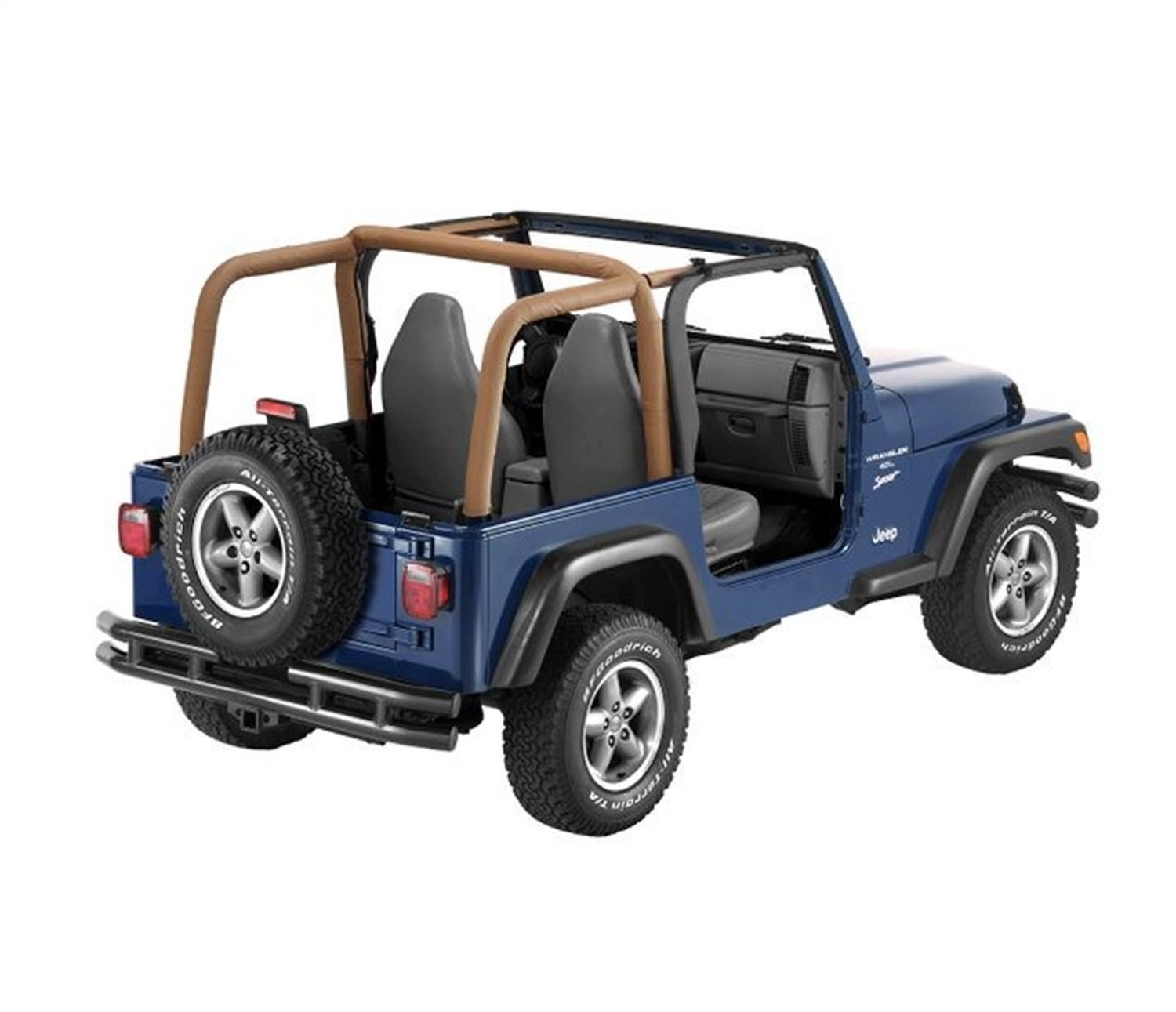 Bestop 80020-37 Spice Sport Bar Cover for 1997-2002 Wrangler TJ with or Without Factory soundbar by Bestop (Image #1)