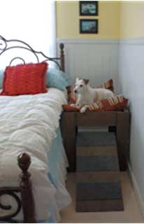dog bed handmade wood raised dog bed furniture with dog ramp or step elevated - Dog Bed Frame