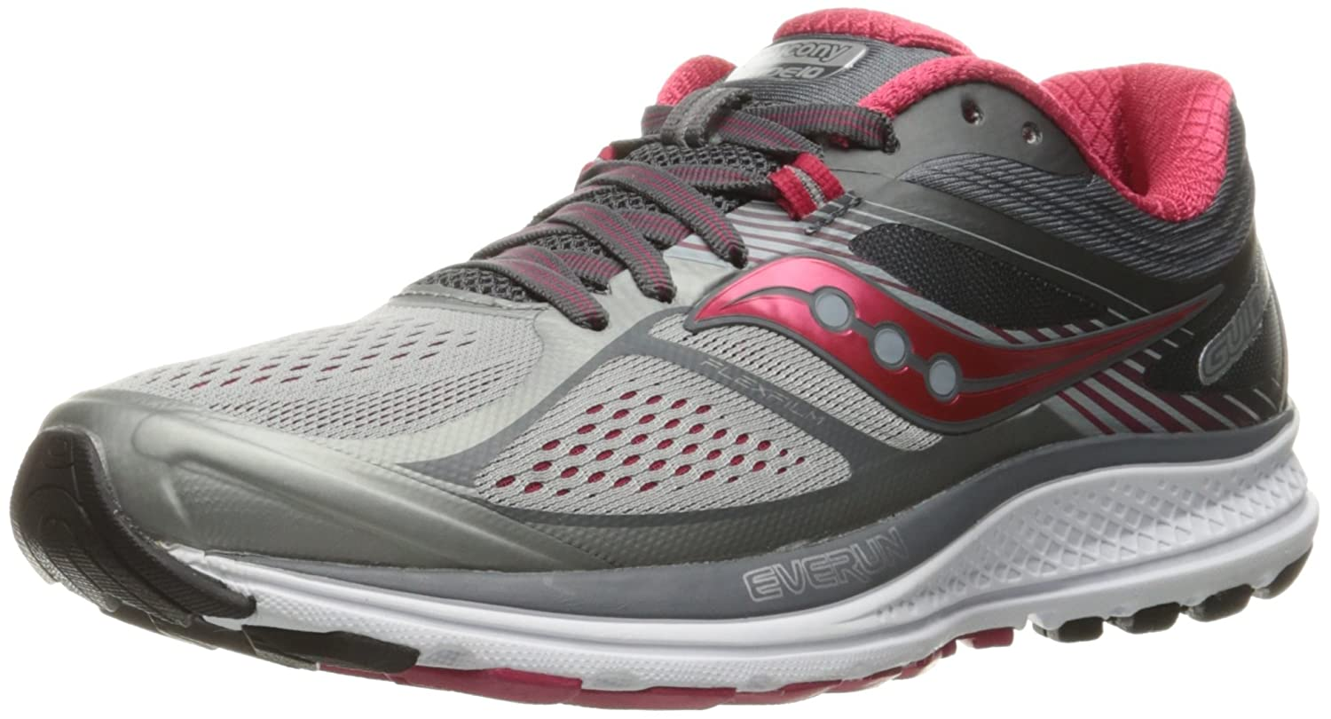 Saucony Women's Guide 10 Running Shoe B01GIPJPEC 7.5 B(M) US|Silver/Berry