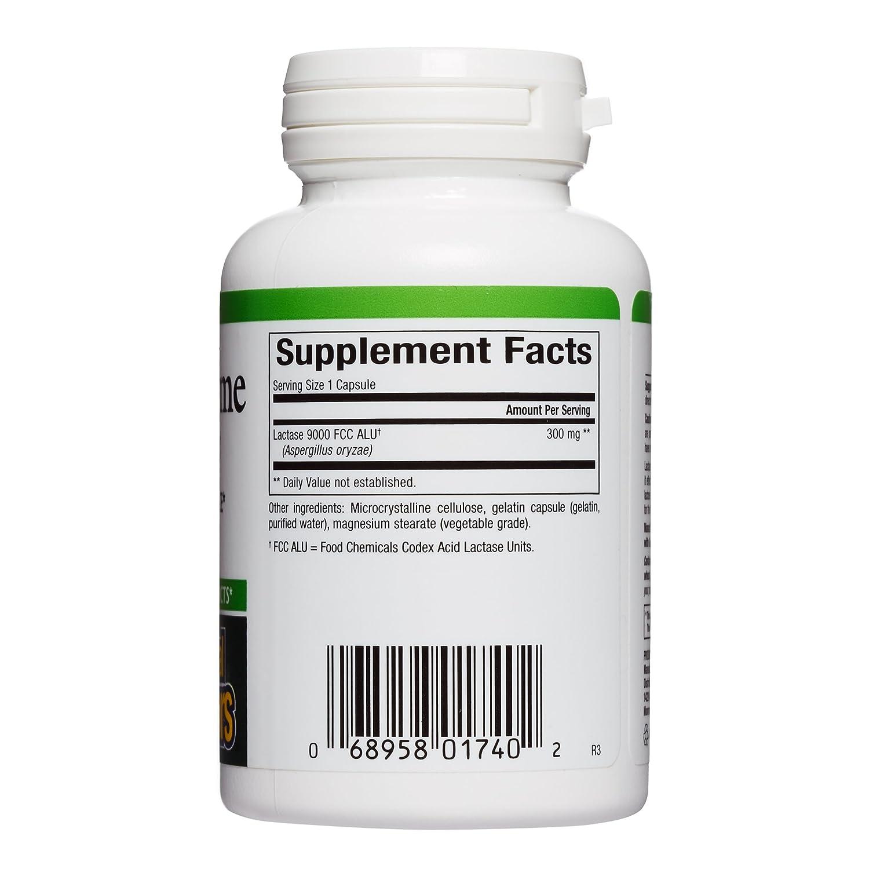 Enzima lactasa, 9000 FCC ALU, 60 Cápsulas - Factores Naturales