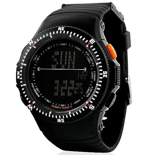 SKMEI Reloj digital multifunción Hombre 2 hora alarma fecha retroiluminación negro banda de goma reloj de pulsera 0989: Amazon.es: Relojes