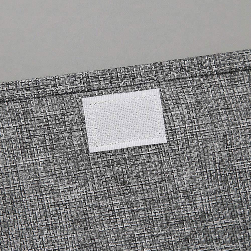 KIAYI Caja de Almacenamiento Ropa Interior Tela con Tapa Caja de Acabado Cargado Ropa Interior Calcetines Cajas de Almacenaje Lavable,Blue