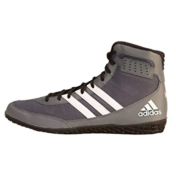 Adidas Mat Wizard David Taylor Edition Wrestling Shoes Grey-Black-White, 4 B