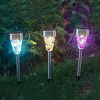3 Estaca Luces Solares Focos LED Jardin Decoracion , Luces con ...