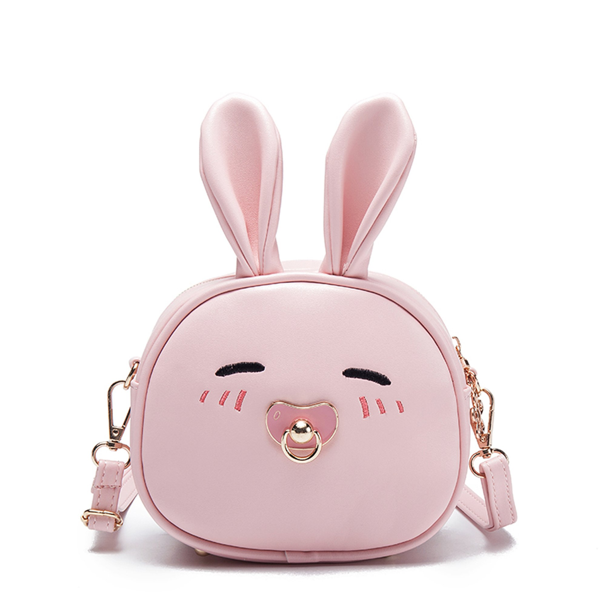 Child Girls Cute Mini Travel Backpacks Purses Convertible Cross Shoulder Bags Stylish Satchel Outdoor Gifts (bunny pink)