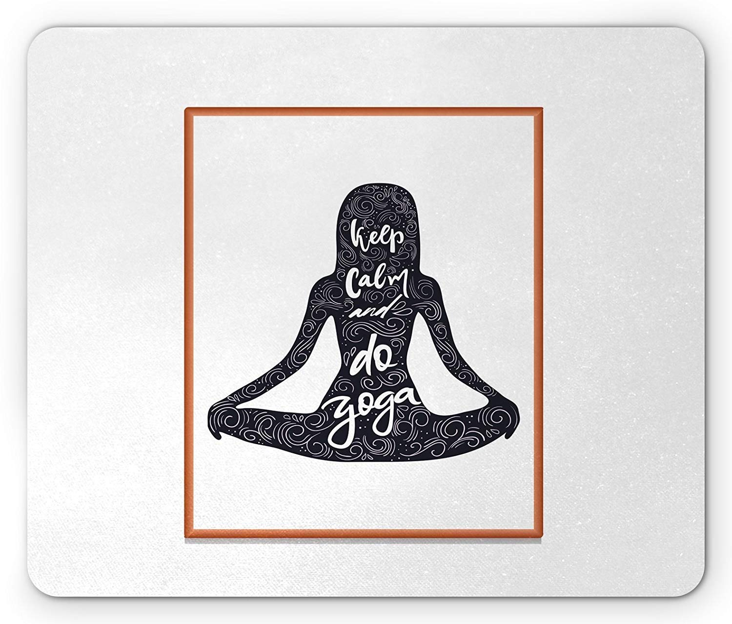 Amazon.com : Yoga Mouse Pad, Silhouette Girl in Lotus Pose ...