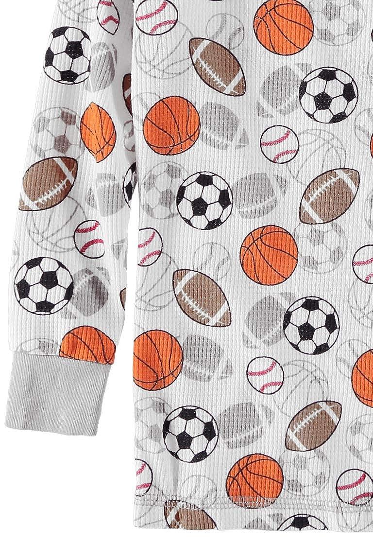 Mon Petit Boys Long-Sleeve Waffle Thermal Underwear Pajama Set