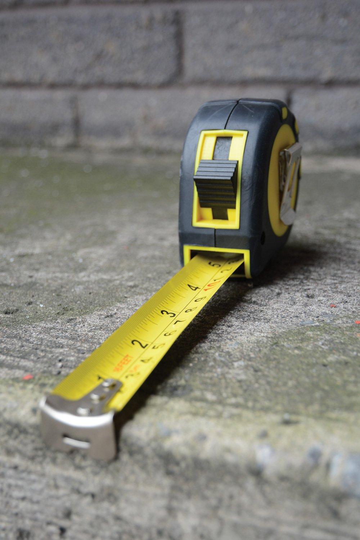 Mercury Heavy-Duty 5m Tape Measure Hand Tool Home Work DIY Heavy Duty Thumb Lock