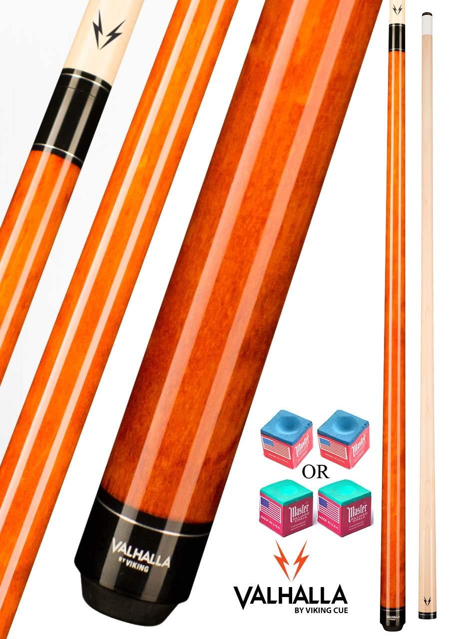 Valhalla VA109 バイキング 2ピース プールキュースティック オータム オレンジ ラップ 16-21オンス プラスブルーマスターチョーク。 B07KNJKYSM オレンジ(Autumn Orange) 18