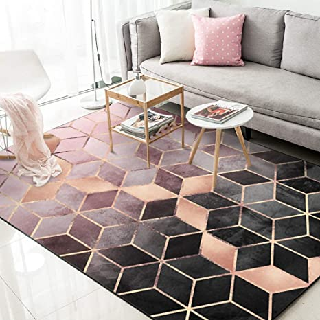 Amazon.com: Moktasp Minimalist Nordic Area Carpet Kid Room ...