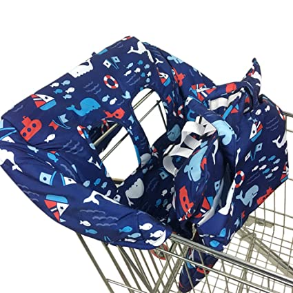 Amazon.com : Pueri Shopping Cart Cover 2-in-1 Baby Shopping Cart Cover & High Chair Covers with Safety Harness Universal Fit for Baby Toddler Boy or Girl ...