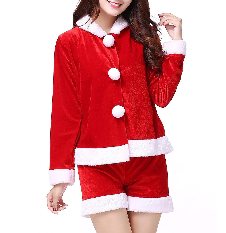 Diversión sexy WENRIT® Navidad, Disfraz Disfraz Navidad, de Traje Sexy para Mujer, Papá Noel, cálido Invierno 249e00