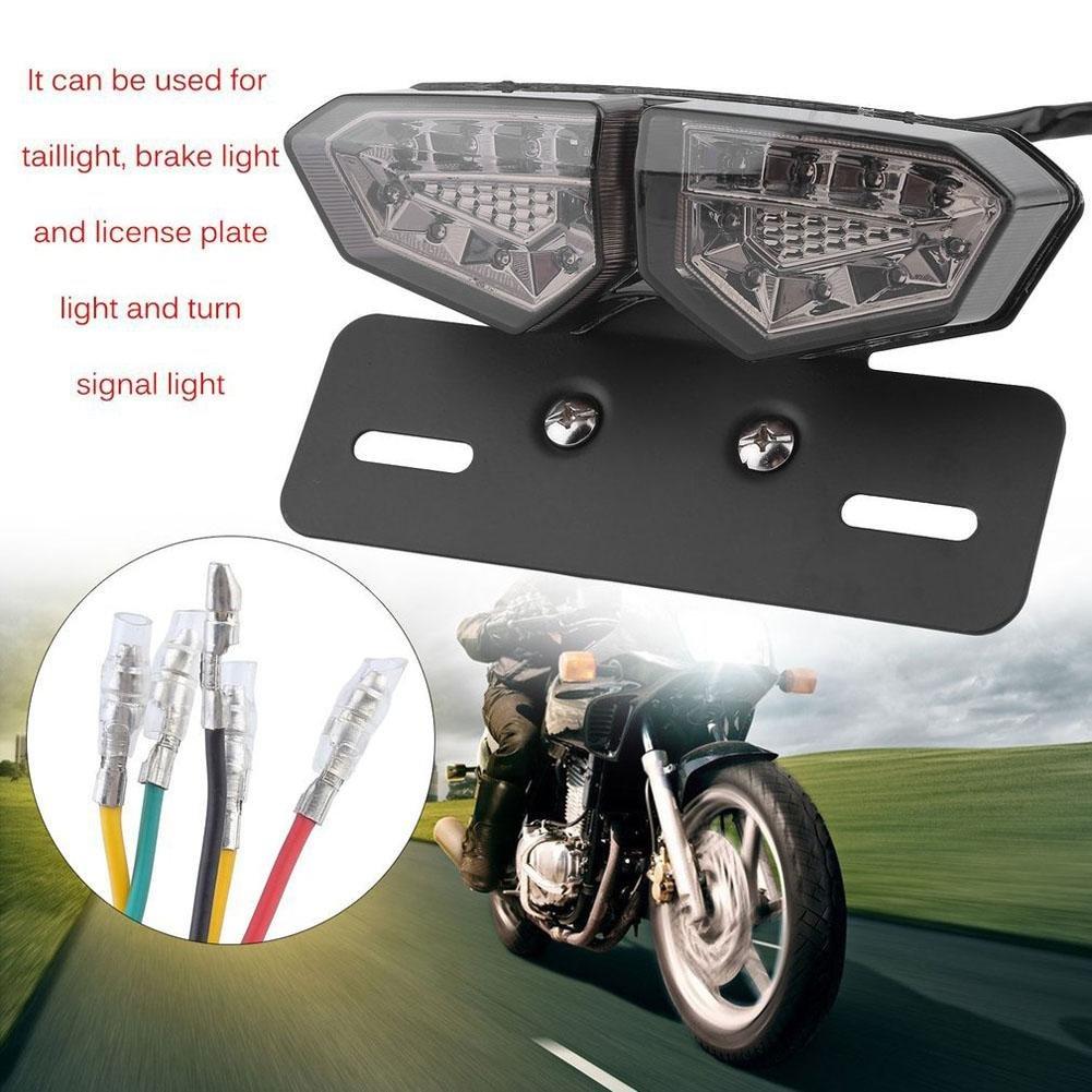 LED moto fanale moto freno segnale luminoso fanale posteriore targa della lampada da incasso Comaie®