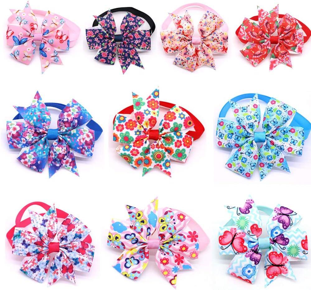 Spring Flower Butterfly Bandana Over the Collar Dog Bandana Pet Accessories