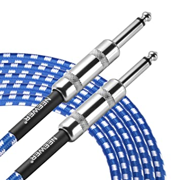 Neewer ZB-24 - Cable de Guitarra con Conector Recto a Recto Estándar de 1