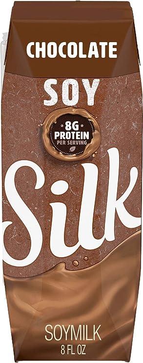 Silk - Chocolate con leche de la soja - 8 oz.: Amazon.es: Salud y cuidado personal