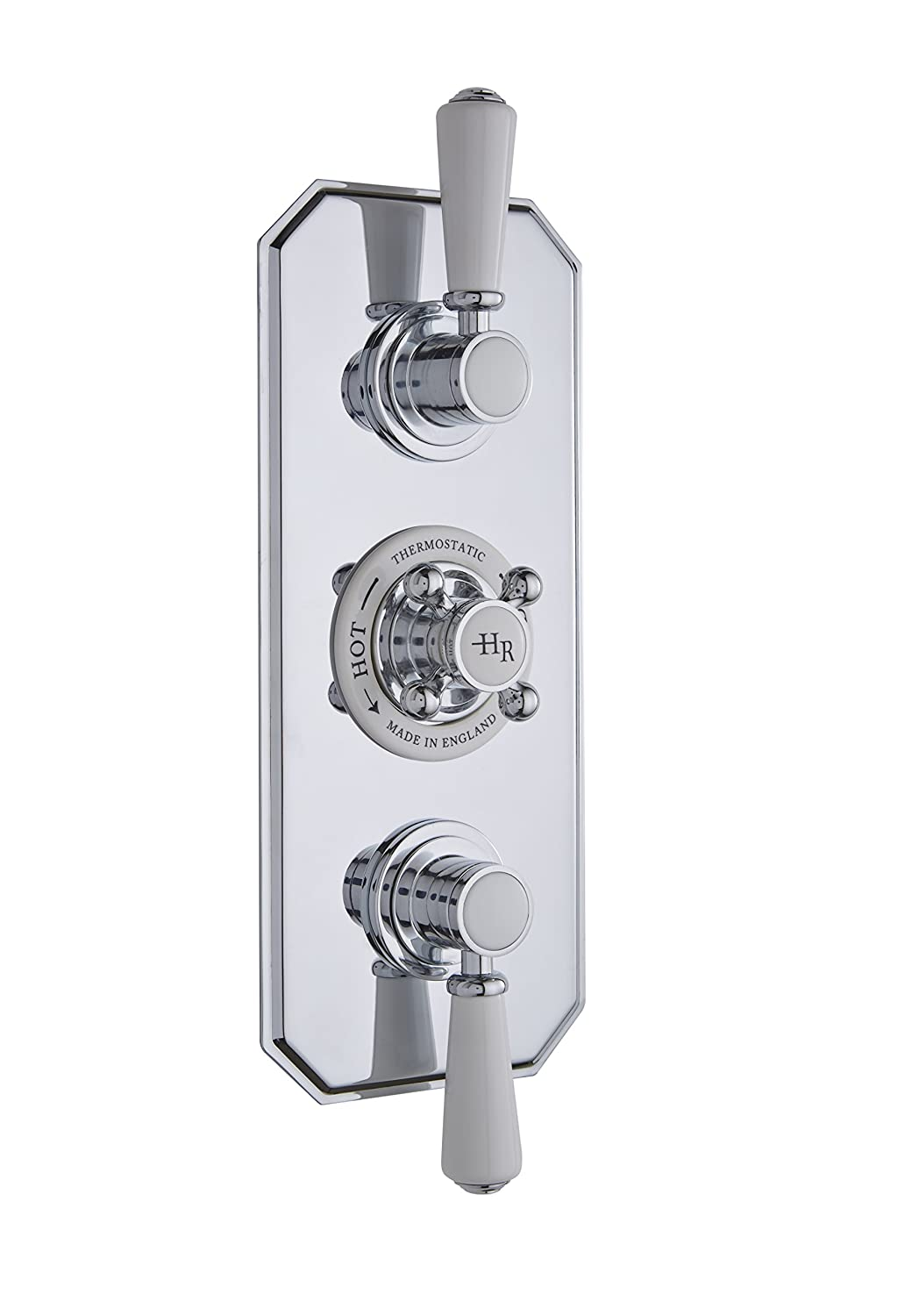 Hudson Reed TSVT002 Topaz Thermo Twin Concealed Valve - Chrome