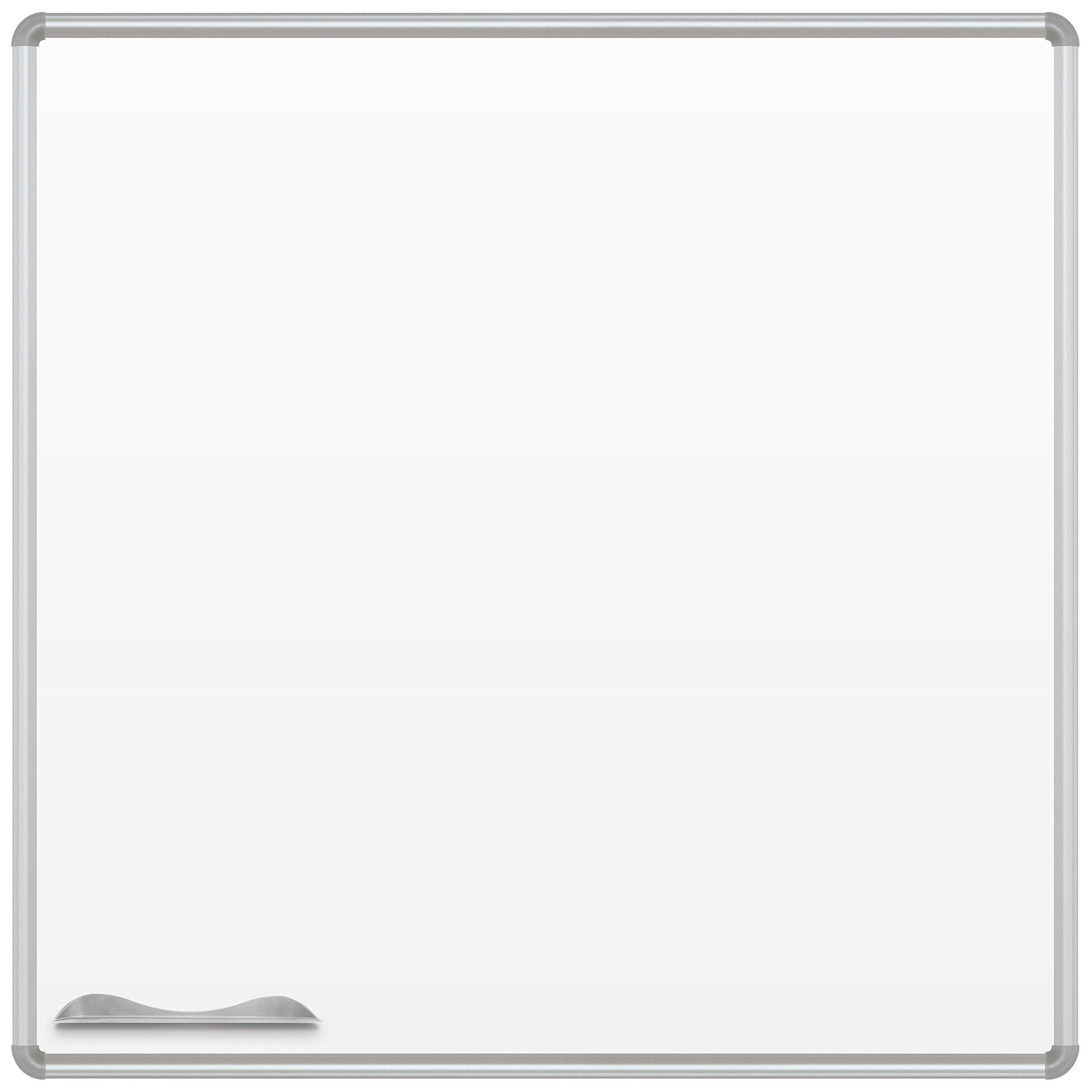 Best-Rite Presidential Frame Magne-Rite Dry Erase Whiteboard, 4 x 4 Feet (219PD)