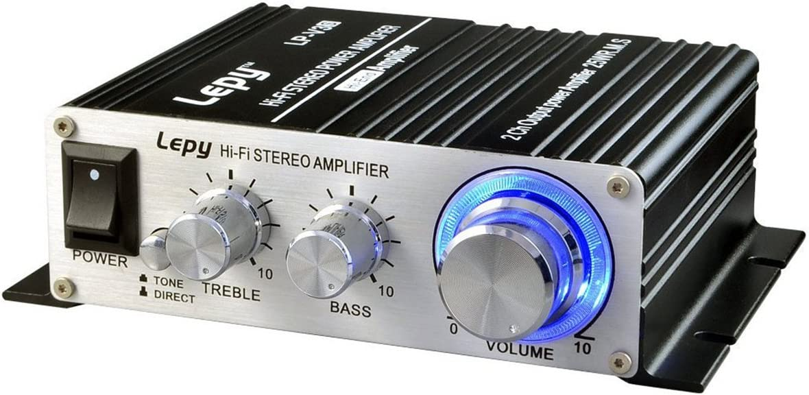 Mini Amplifier, FisherMo Home Audio Stereo Powerfull Bass Music Streaming Digital Class D Hi-Fi Power Amp for Speaker PC TV Cell Phone Car Vehicle