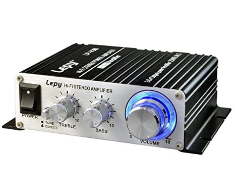 b6bbde92b80f0b Amazon.com: Mini Amplifier, FisherMo Home Audio Stereo Powerfull Bass Music  Streaming Digital Class D Hi-Fi Power Amp for Speaker PC TV Cell Phone Car  ...