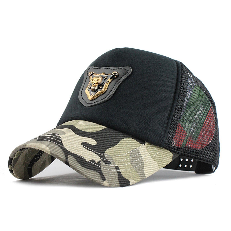 LONIY] Casual Skull Baseball Cap Dad Hat Trucker mesh Cap Sports Beach Summer Fashion Hats for Women Men