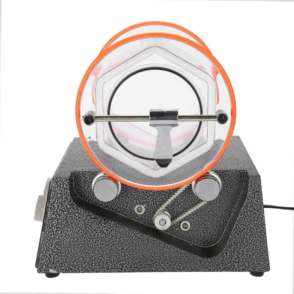 5 kg 5 Vitesses Chronom/étr/é Bidirectionnel Roche Rotative Bijoux Polisseuse Machine Multifonction Banc de Meulage Polissage Nettoyeur de Perles Finisseur de Bijoux Gobelet de Polisseur de Bijoux