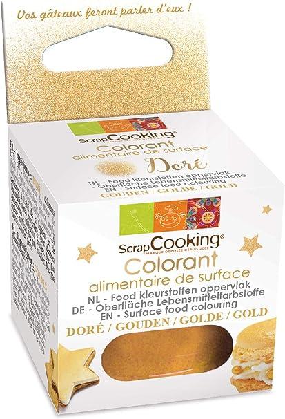 ScrapCooking Colorante alimentario en Polvo 5 g-Dorado, Otros ...