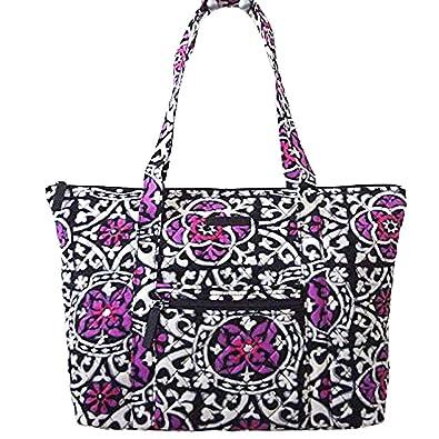 967d6e6a73 Vera Bradley Villager Tote Bag (Scroll Medallion)  Handbags  Amazon.com
